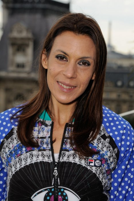 "Marion Bartoli assiste à la présentation de sa collection exclusive ""Love Fila by Marion Bartoli"" à Paris, le 17 mai 2016."