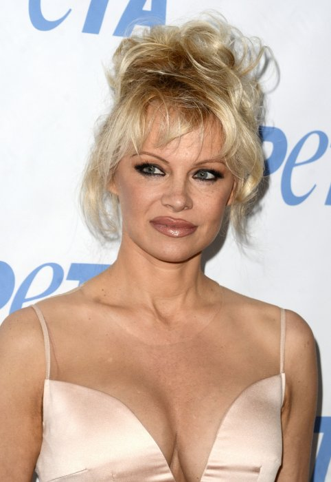 "Pamela Anderson à la soirée ""Launch party for Prince's PETA Song"" à Los Angeles, le 8 juin 2016."