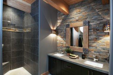 Objectif salle de bains rustique