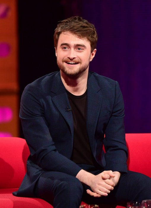 Daniel Radcliffe durant l'enregistrement de The Graham Norton Show aux studios de Londres, le 29 septembre 2016.