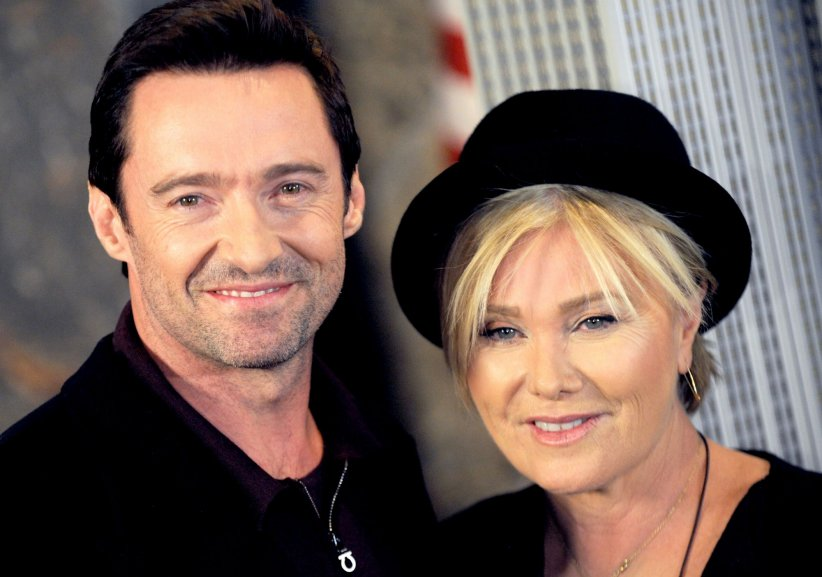 Hugh Jackman et Deborra-Lee Furness lors d'une visite de l'Empire State Building en 2014.