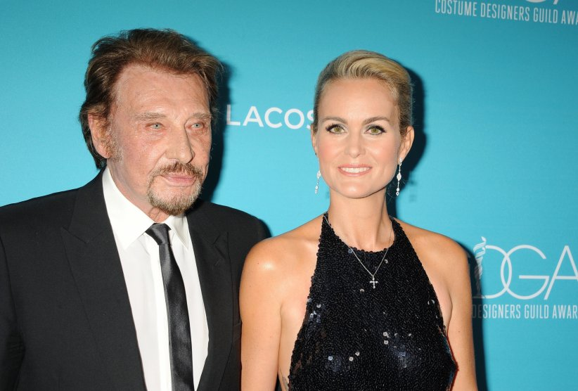Johnny et Laeticia Hallyday aux 17e Costume Designers Guild Awards à Beverly Hills, le 17 février 2015.