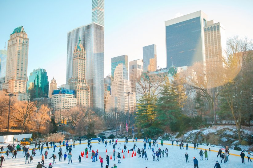 La patinoire de Central Park à New York