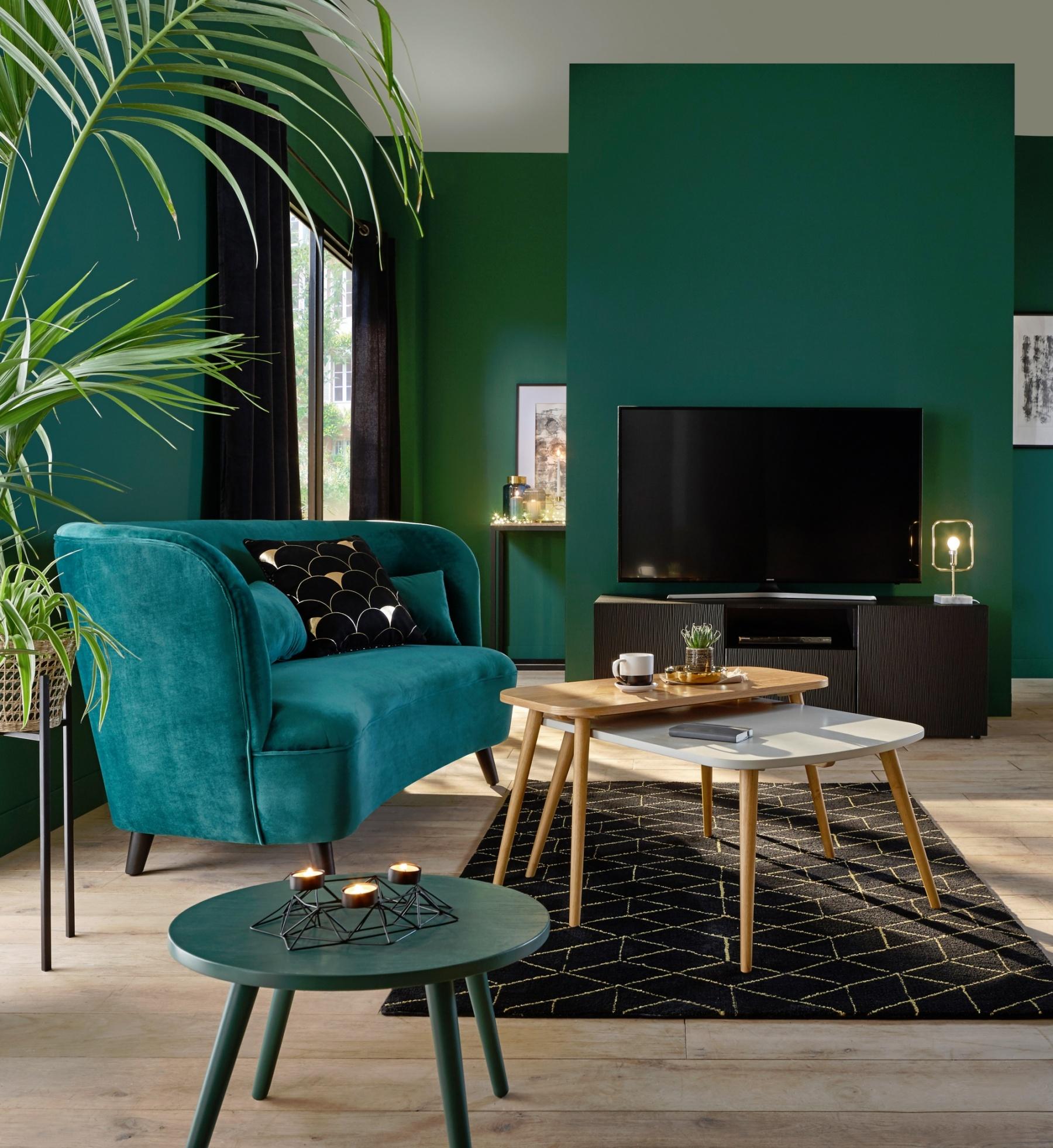 Merveilleux Le Vert Pour Une Pièce Vivante