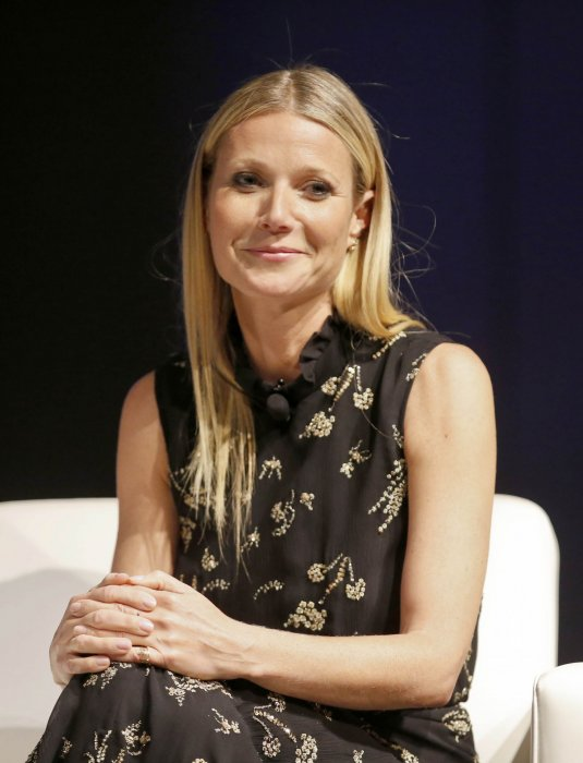 "Gwyneth Paltrow, lors de l'évènement ""Inside Goop"" en l'honneur de son blog, à Chicago, le 14 avril 2016."