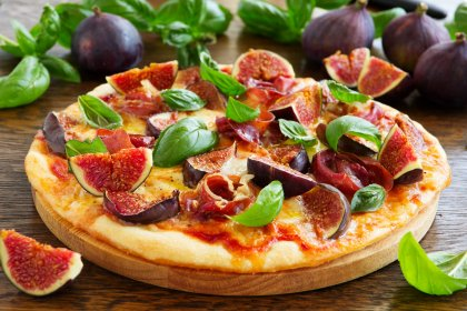 Pizza aux figues