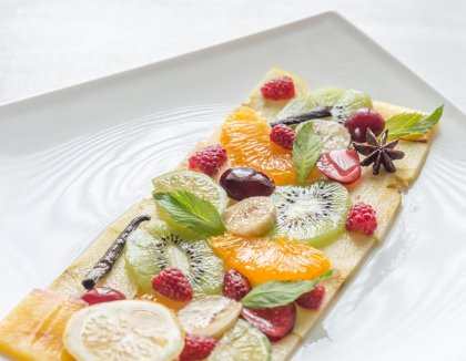 Carpaccio de fruits frais