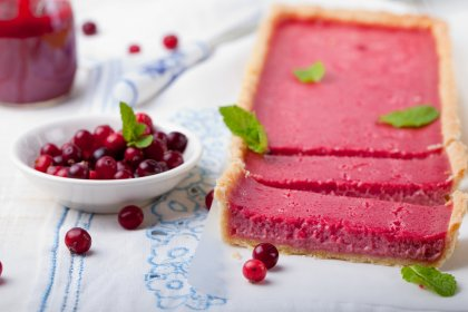 Tarte à la mousse de cranberries