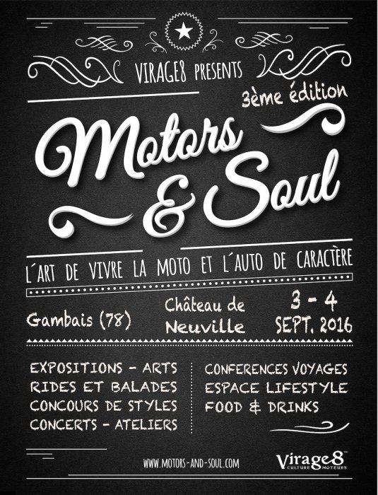 Motors and Soul : 3e édition les 3 et 4 septembre 2016