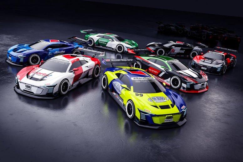 Les pilotes Audi DTM au départ d'une série de courses ...