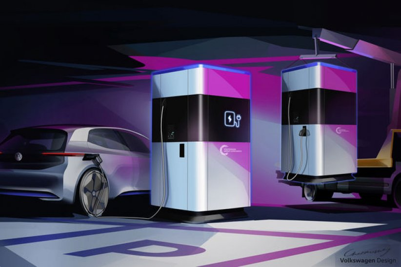 Station mobile de charge par VW