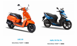 Kymco Like et Agility City Plus 125 : baisse de tarif