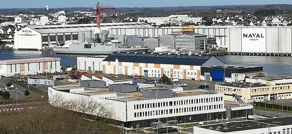 Florence Parly en déplacement à Lorient sur le site de Naval Group