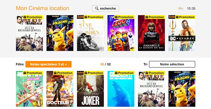 Le service VOD s'enrichit sur la TV d'Orange